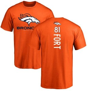 Austin Fort Denver Broncos Men's Orange Backer T-Shirt -