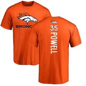 Tyvis Powell Denver Broncos Men's Orange Backer T-Shirt -