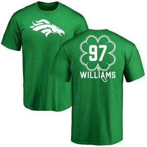 DeShawn Williams Denver Broncos Youth Green St. Patrick's Day Name & Number T-Shirt