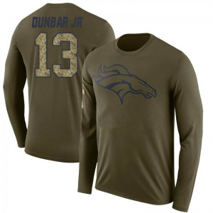 Steven Dunbar Jr. Denver Broncos Men's Legend Olive Salute to Service Sideline Long Sleeve T-Shirt