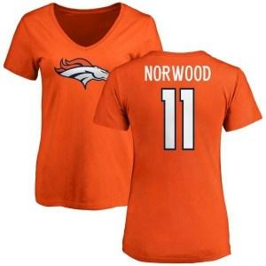 Jordan Norwood Denver Broncos Women's Orange Pro Line Any Name & Number Logo Slim Fit T-Shirt -
