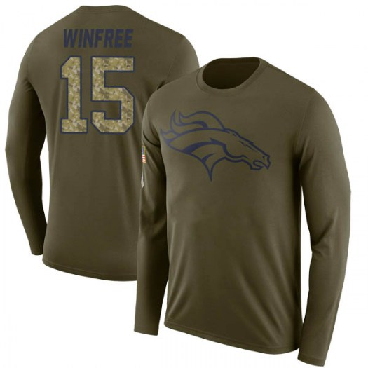 Juwann Winfree Denver Broncos Youth Legend Olive Salute to Service Sideline Long Sleeve T-Shirt
